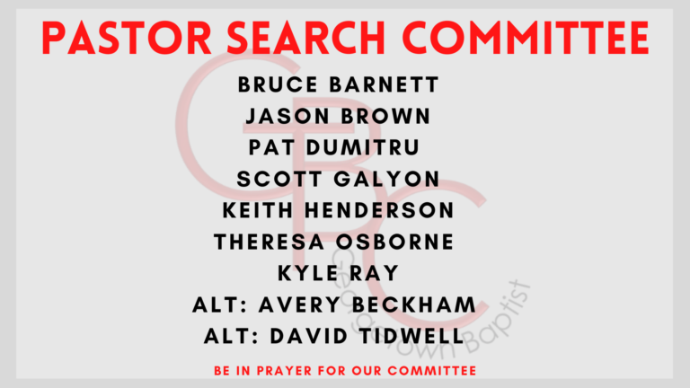 Pastor Search Comittee