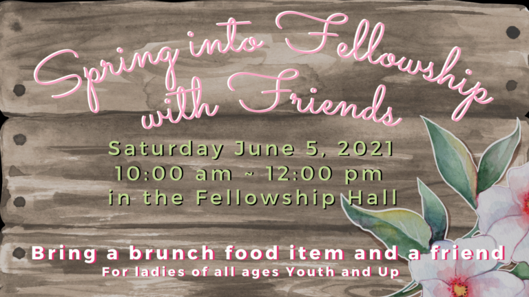 Spring into fellowship with friends
